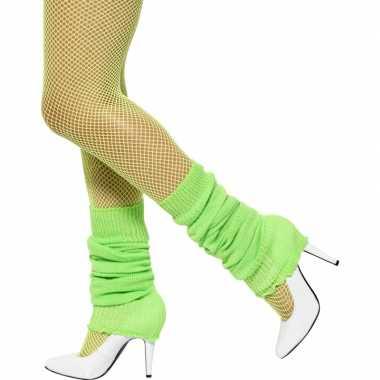 Neon groen gekleurde beenwarmers kopen