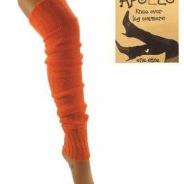 Oranje slop beenwarmerssokken kopen